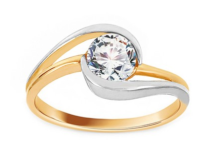 Gold Two Tone Engagement Ring Ramona 7