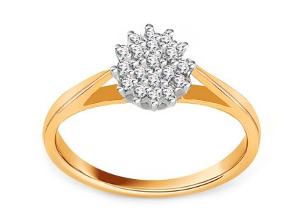 Golden Engagement Ring Alejandra 1