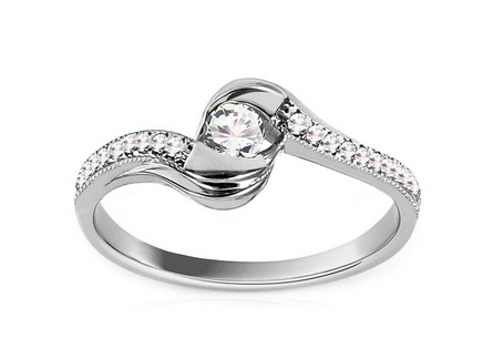 Engagement Ring with Cubic Zirconia Giggi White 1