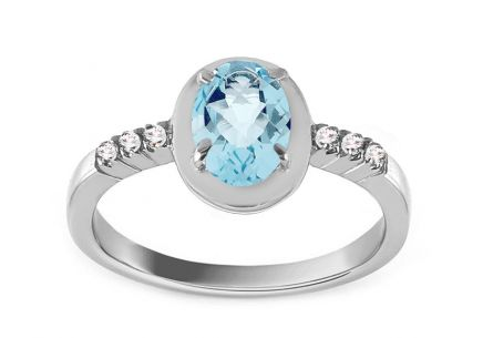 Engagement Ring with Topaz Lealia