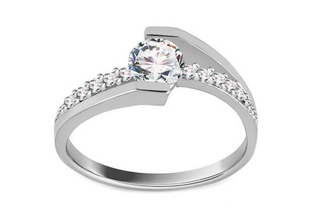 Gold Engagement Ring Giggi white