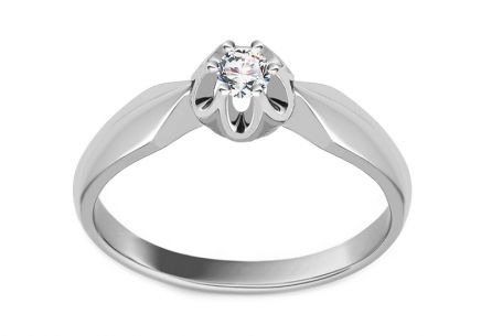 Gold Engagement Ring Ramona 6 white