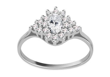 White Gold Engagement Ring Diane 5