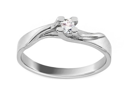 White Gold Engagement Ring Grace 8