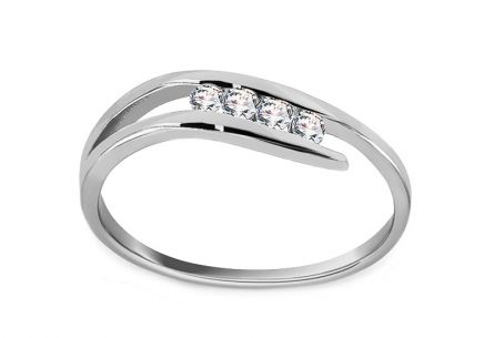 White Gold Engagement Ring Pretty 6