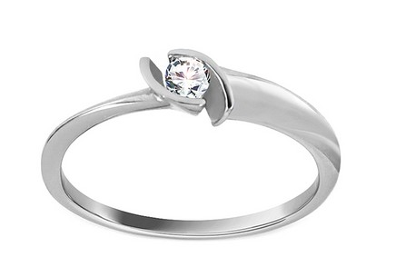 White Gold Engagement Ring with Zircon Anissa