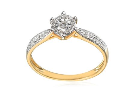 Brilliant engagement ring from the Paris collection 0,09ct