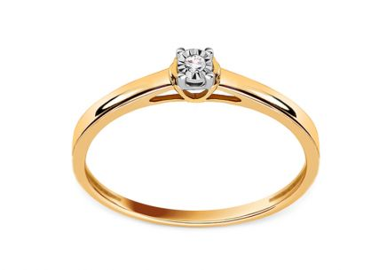 Diamond engagement ring 0.010 ct