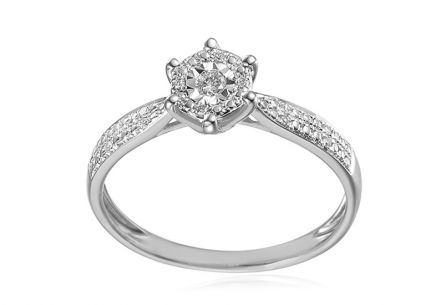 Diamond engagement ring from the Paris 0.090 ct collection