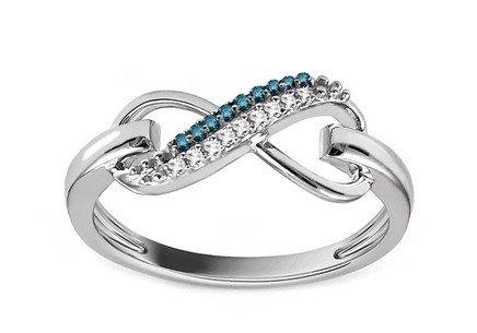 Diamond Ring 0,070 ct Infinity