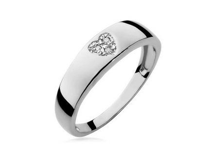 Diamond Ring Heart 0,023 ct