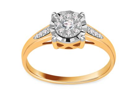 Engagement Ring 0,120 ct Diamond Illusion 2