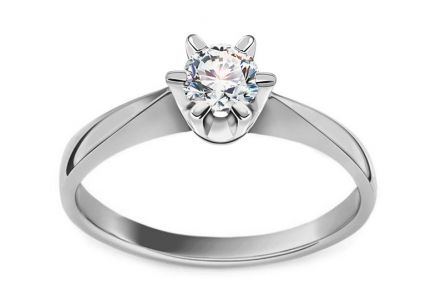 Engagement Ring 0.210 ct Si1/ D Nela large white