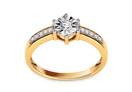 Engagement Ring Magic Bloom with Diamonds 0,120 ct