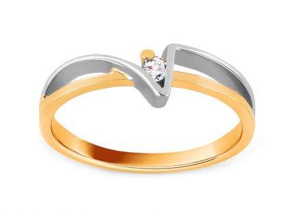 Engagement Ring Of love with Brilliant 0,030 ct