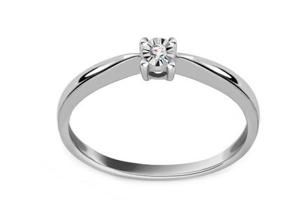 Engagement ring with 0.020 ct Mariya diamond