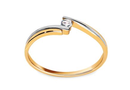 Engagement Ring with 0,030 ct Brilliant Beauty
