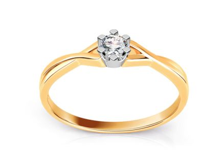 Engagement ring with 0.060 ct diamond Amazing love