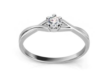 Engagement Ring with 0,060 ct  Diamond Amazing love