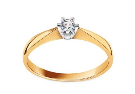 Engagement ring with 0.060 ct diamond Nela little