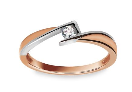 Engagement Ring with 0,070 ct Diamond Magic Beauty 3