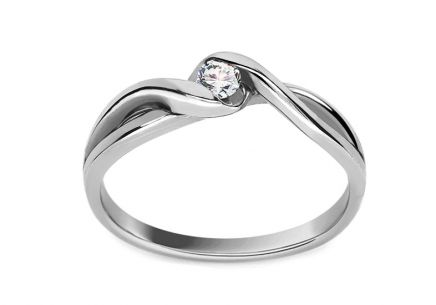 Engagement Ring with 0,080 ct Brilliant Loving moments white