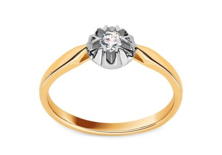 Engagement Ring with 0.080 ct Brilliant Lyanna 1