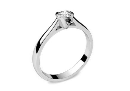 Engagement Ring with 0,090 ct ct Diamond Power of love 9