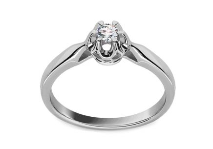 Engagement Ring with 0.100 ct Brilliant Crown white