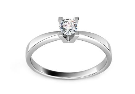 Engagement Ring with 0,100 ct Diamond Promise 1