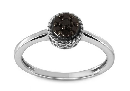 Engagement Ring with 0,110 ct Black Diamonds Mileres