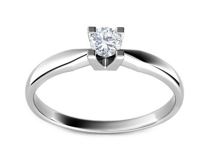 Engagement Ring with 0,110 ct Diamond Promise 6