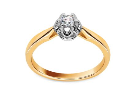 Engagement Ring with 0,111 ct Brilliant Crown