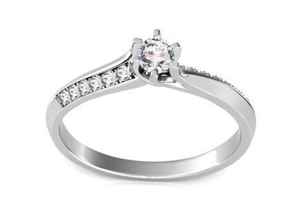 Engagement Ring with 0,130 ct Diamond Ardiente 4