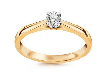 Engagement Ring with 0,160 ct Brilliant Estelle middle