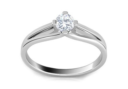Engagement Ring with 0,160 ct Diamond Promise 7