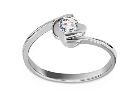 Engagement Ring with 0,170 ct Diamond Adriana Rose