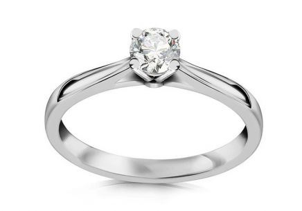 Engagement Ring with 0.211 ct Si2/E Diamond Estelle large white