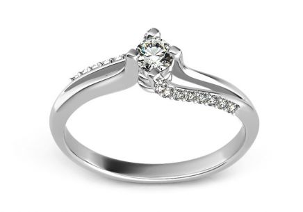 Engagement Ring with 0,220 ct Diamonds Promise 9 white