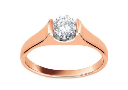 Engagement Ring with 0,250ct Diamond Magic Forever pink