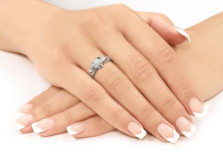 Engagement Ring with 0,510 ct Diamond Always big white