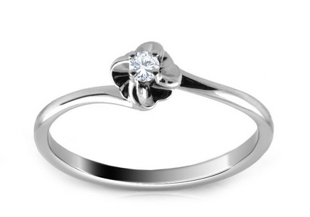 Engagement Ring with Brilliant 0,040 ct Alyana