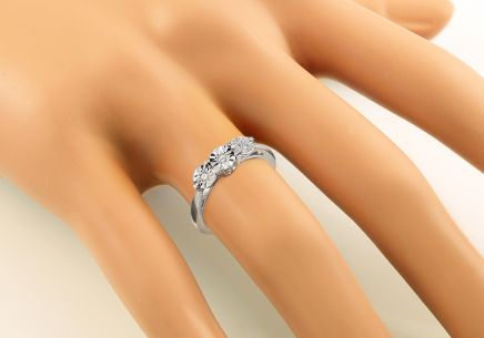 Engagement Ring with Brilliants 0,090 ct Mariya11