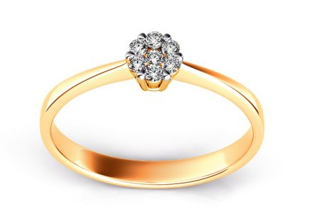 Engagement Ring with Brilliants 0,110 ct Passion 2