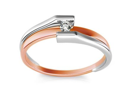 Engagement Ring with Diamond 0,060 ct Promise 10