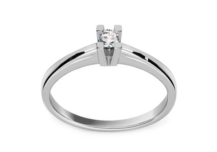 Engagement Ring with Diamond 0,070 ct Scree