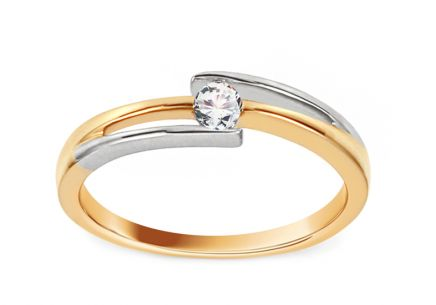 Engagement Ring with Diamond 0,080 ct Ariadna