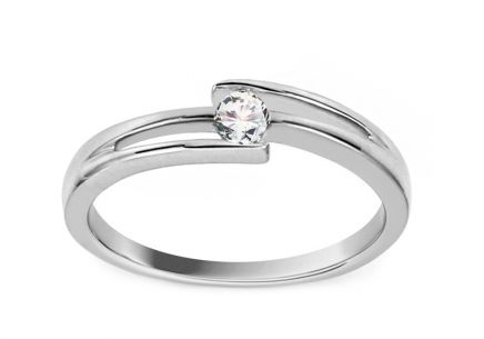 Engagement Ring with Diamond 0,080 ct Ariadna white