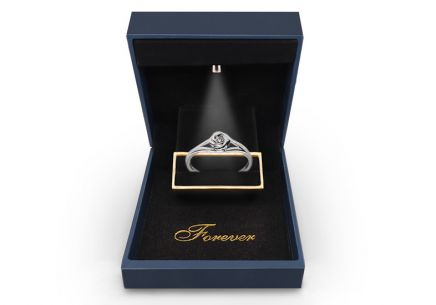 Engagement Ring with Diamond 0,080 ct Rose