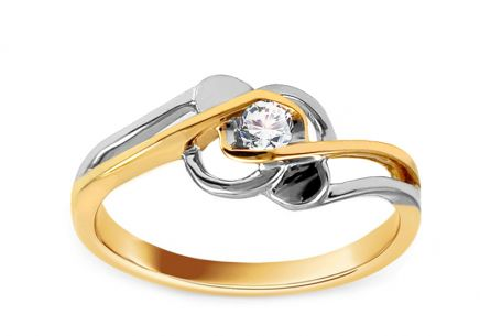 Engagement Ring with Diamond 0,080 ct Rose 3